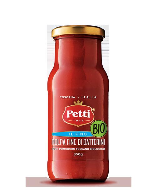 """""""Il fino"""" Organic Crushed datterini tomatoes - Petti Tomato"""