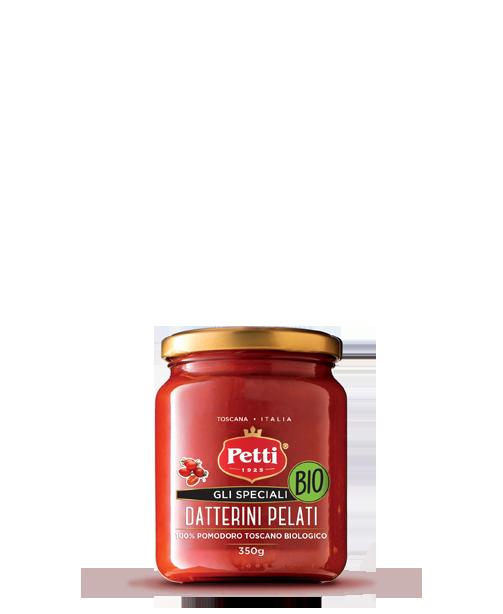 """""""Gli speciali"""" Organic peeled datterini tomatoes - Petti Tomato"""