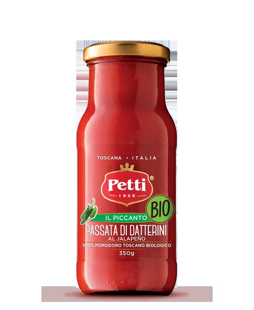 Passata di Pomodoro Bio al Jalapeno con pomodori toscani - Petti - Il Piccanto