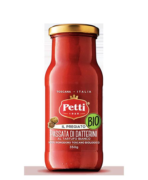 Passata di Datterini Bio al Tartufo Bianco con pomodori Toscani - Petti -Il Pregiato