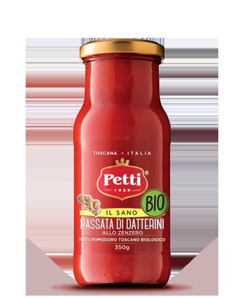 """""""Il sano"""" Organic datterini passata flavoured with ginger - Petti Tomato"""