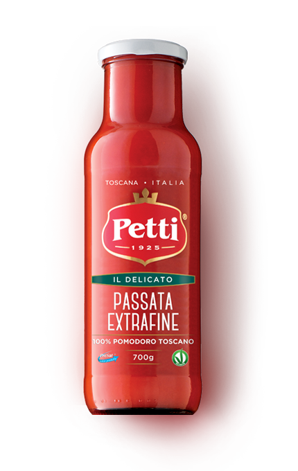 Bottiglia di Passata Extrafine di Pomodoro Petti Il Delicato