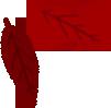 Icona foglia rossa