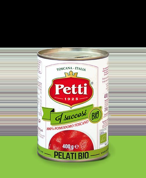 """I Succosi Bio"": Organic Petti peeled tomatoes"