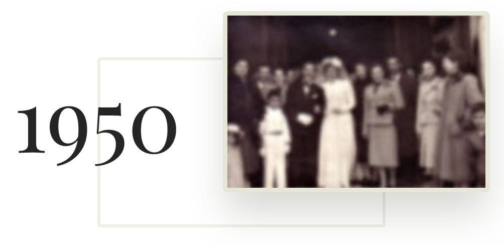 Matrimonio tra Pasquale Petti e Maria Gambardella nel 1950