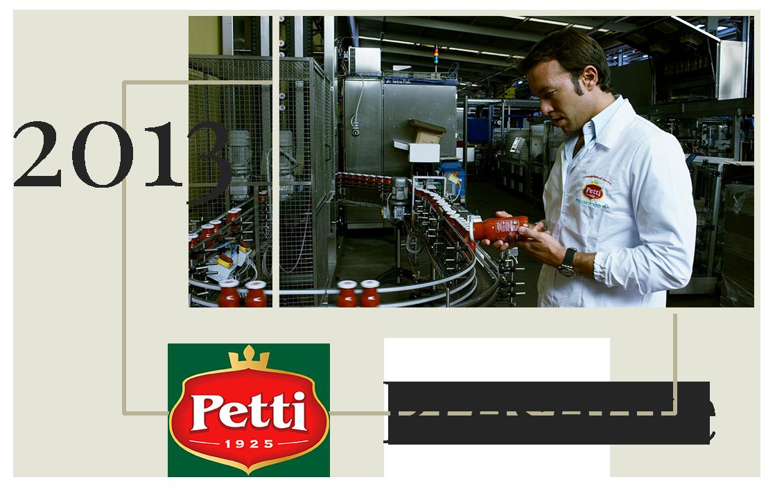 Pasquale Petti nella nuova produzione di Pomodoro e conserve di alta qualità nel 2013