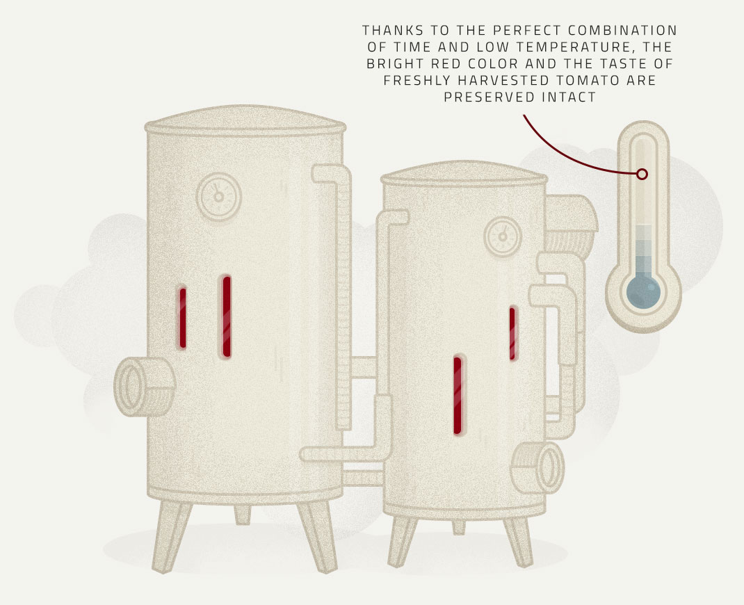 Low temperature process illustration - Tomato's Production Process