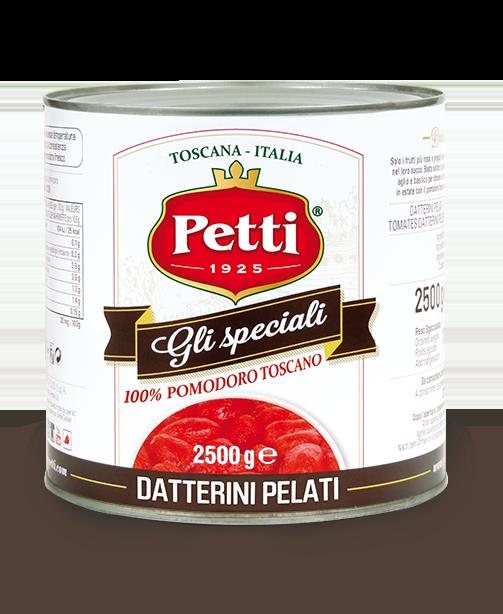 """""""Gli Speciali"""": Pomodori datterini pelati Petti - Food Service"""