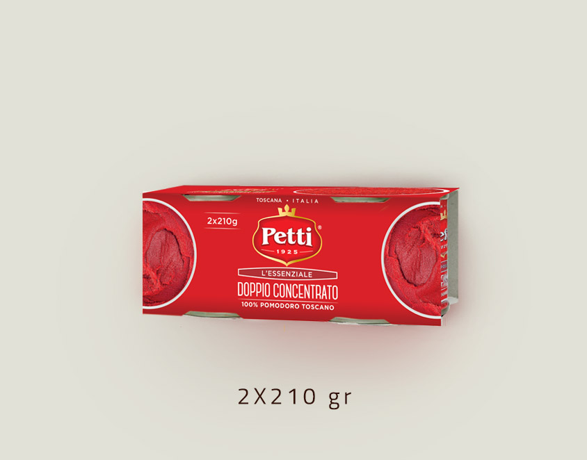 """L'Essenziale"" - Double concentrated tomato paste: double 210gr pack"