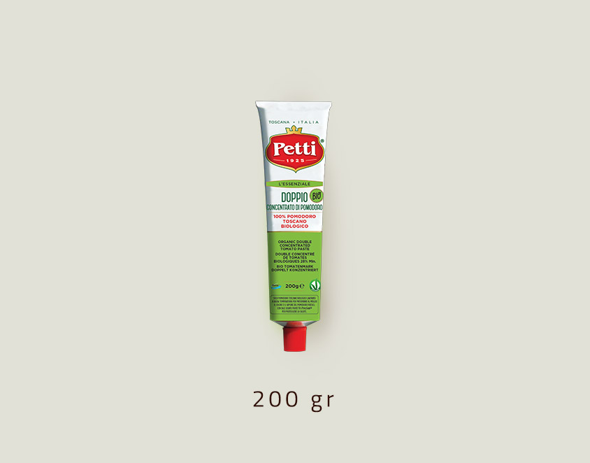 """L'Essenziale Bio"" - Petti organic double concetrated tomatoes - 200gr tube"