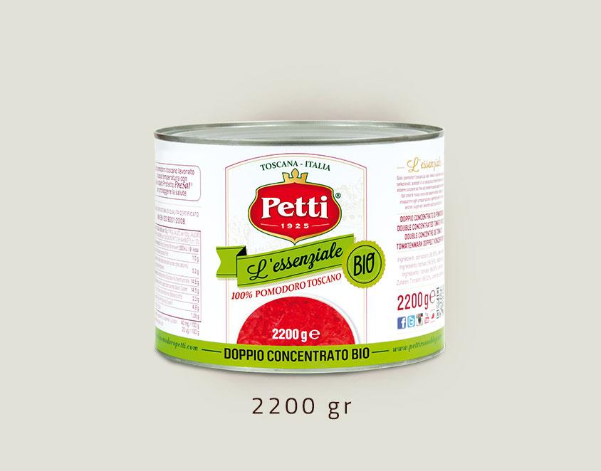 """""""L'Essenziale Bio"""" - doppio concentrato di pomodoro biologico: confezione da 2,2 kg"""