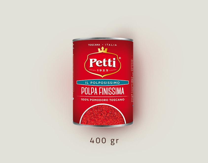 """""""Il Polpissimo""""- polpa finissima di pomodoro Petti: confezione da 400 grammi"""