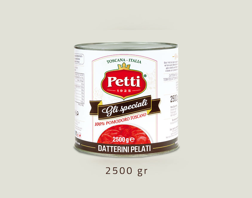 """Gli Speciali"" - peeled datterini tomatoes: 2,5 kg pack"