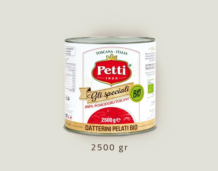 """Gli Speciali Bio"" pomodori pelati biologici: confezione da 2,5 kg"