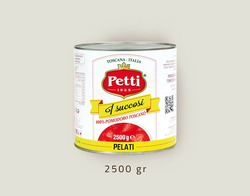 """I Succosi"" peeled tomatoes: 2,5 kg pack"