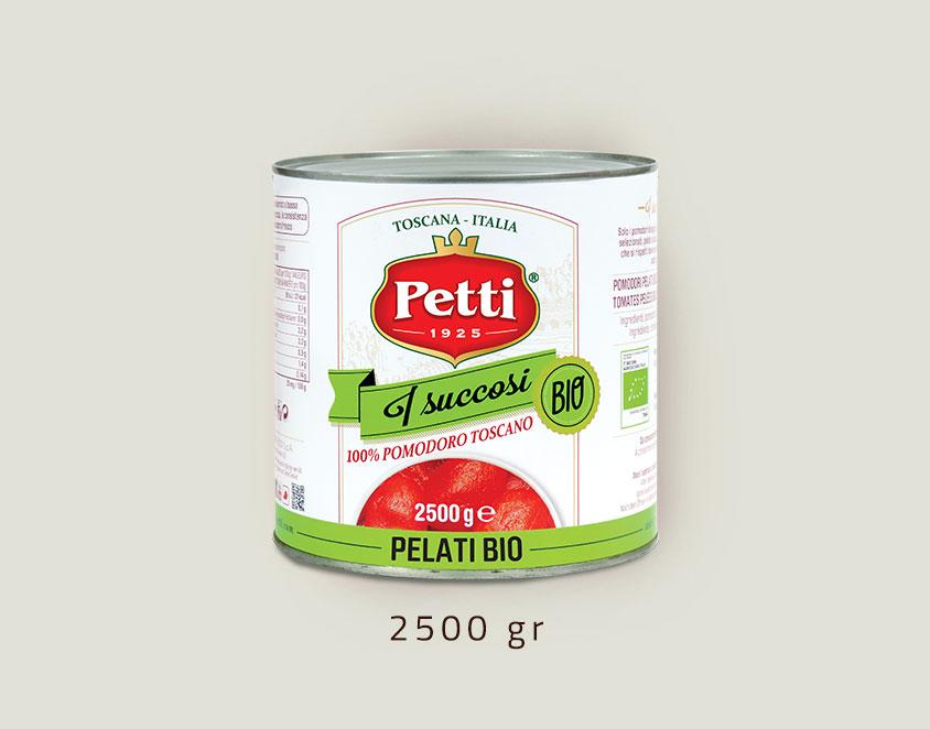 """""""I Succosi Bio"""" pomodori pelati biologici: confezione da 2,5kg"""