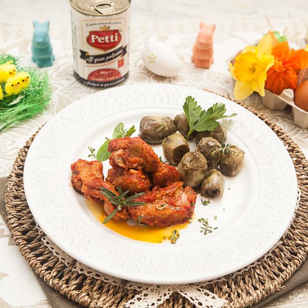 Agnello in umido con carciofi alle erbe: la ricetta | Pomodoro Petti