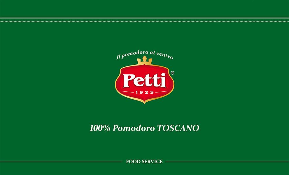 Logo Petti sfondo verde