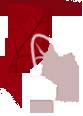 icona foglia rossa e ramo