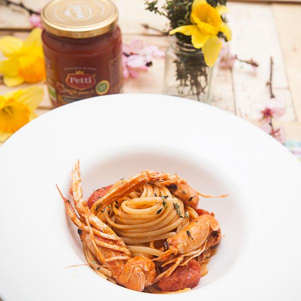 Linguine agli scampi: la ricetta | Pomodoro Petti