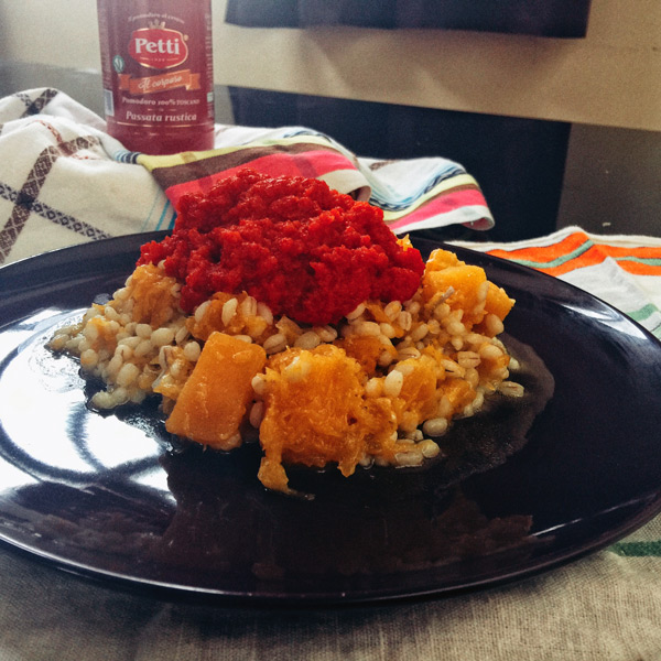 Barley, pumpkin and tomato   Petti Recipes