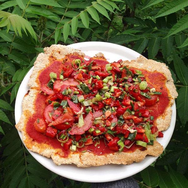 Pizza con pomodoroni