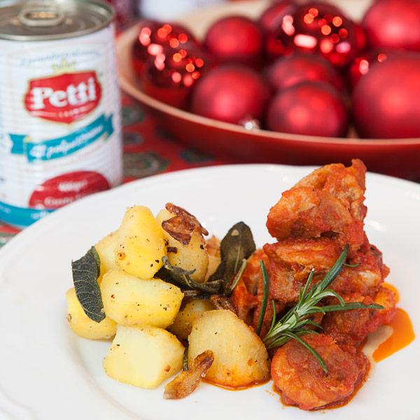 Pollo in potacchio con patate alle erbe: la ricetta | Pomodoro Petti