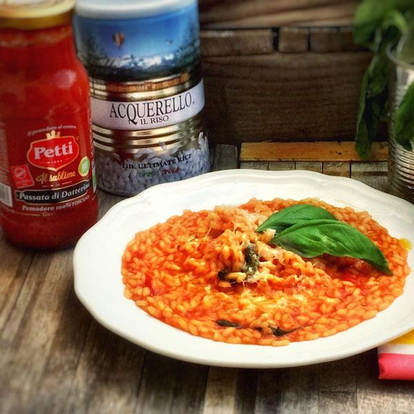 Risotto al pomodoro e basilico: la ricetta | Pomodoro Petti