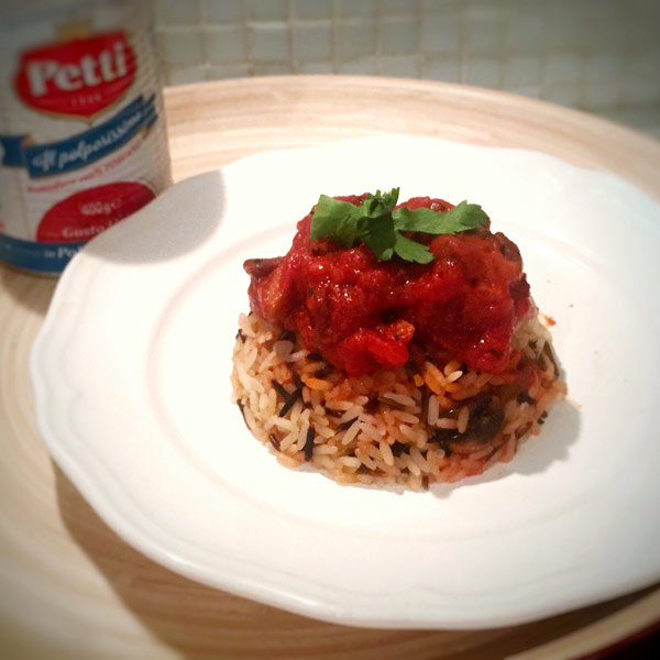 Tortino di riso Wild e funghi alla pizzaiola: la ricetta | Pomodoro Petti
