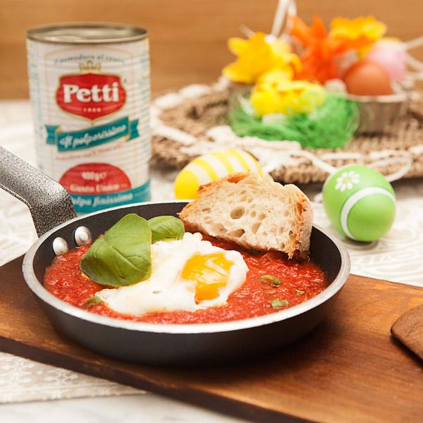 Uova in camicia al pomodoro: la ricetta | Pomodoro Petti