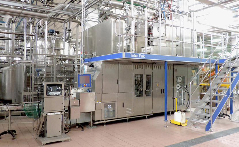 Overview of the Tetra Pak line