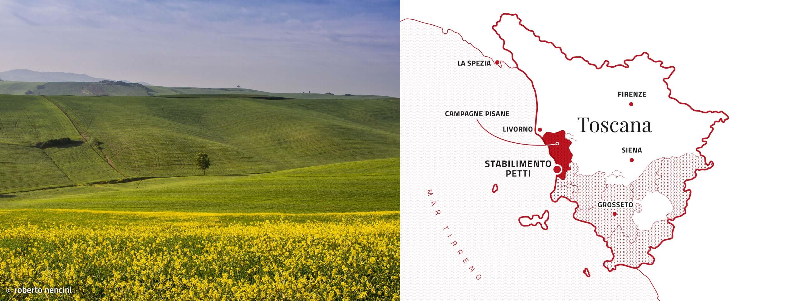 Mappa stabilimenti Petti Campagne Pisane
