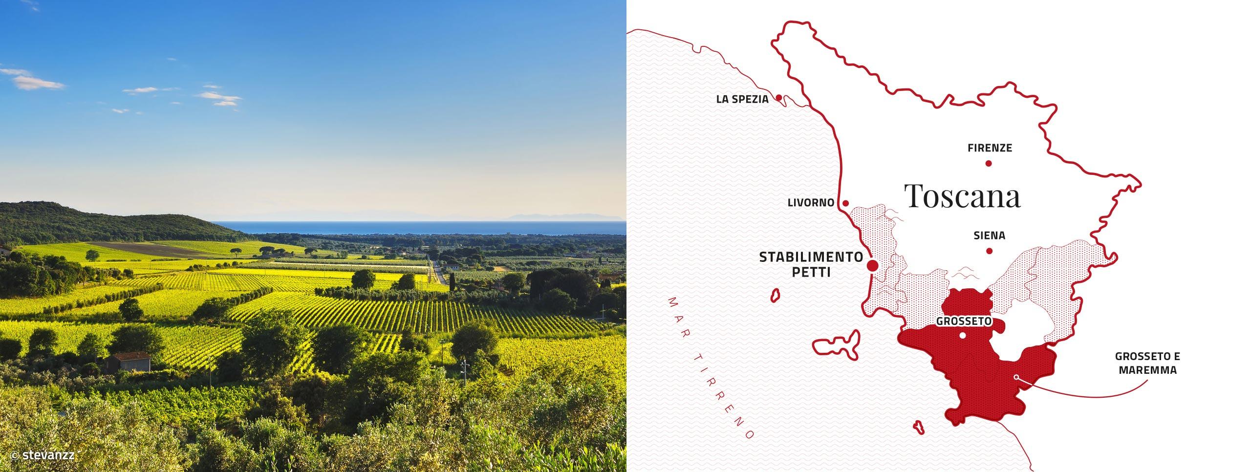 Mappa stabilimenti Petti Maremma