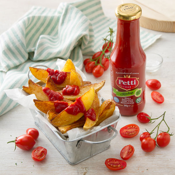Savory Chips with organic Ketchup | Petti Tomato - Petti Recipes