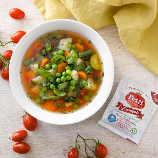 Ricetta del minestrone estivo con pomodoro | Pomodoro Petti