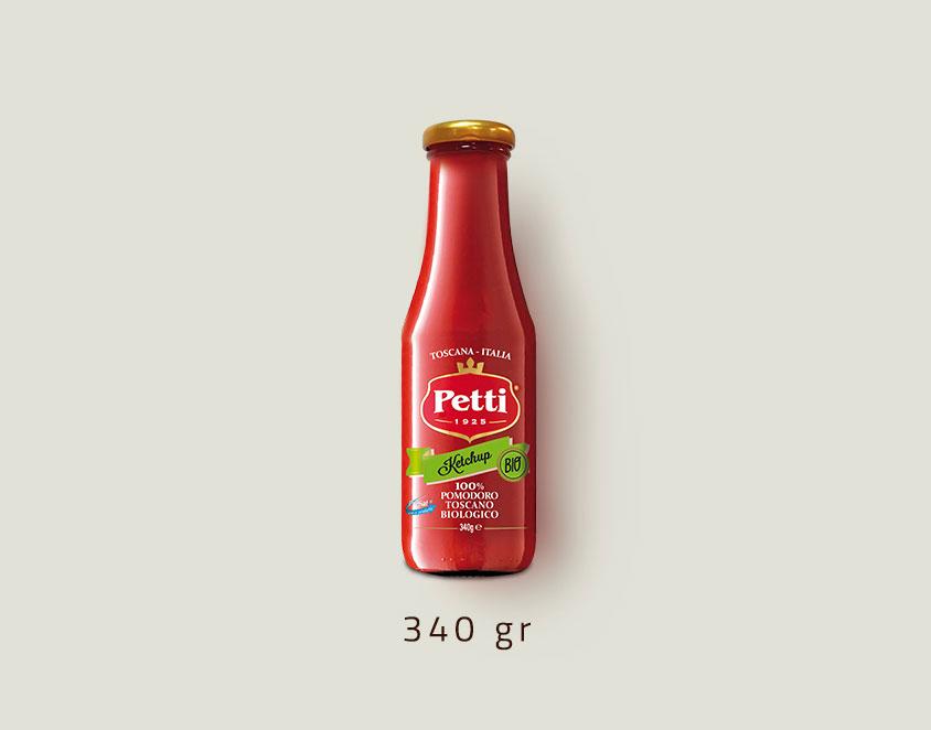 Il Ketchup Bio: confezione da 340 grammi